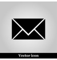 postal envelope sign on grey background vector image vector image