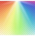 rainbow lights gradient spectrum vector image vector image