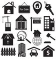 Real Estate Symbols Set vector image