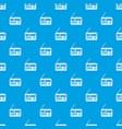retro radio pattern seamless blue vector image vector image