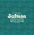 Seamless pattern with a picture of salmon vector image vector image