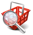 Search cart vector image vector image