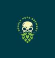 skull hops logo vector image