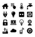 Smart Home Management Icons Set vector image vector image
