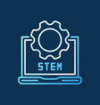 Stem laptop with cog linear colorful icon