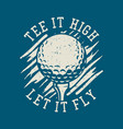 t shirt design id rather be golfing with golf vector image vector image