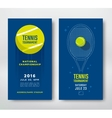Tennis championship poster vector image vector image