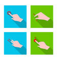 touchscreen and hand symbol vector image