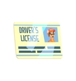 Trucker Driving License Truck Driver Job Related vector image vector image