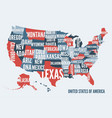 united states of america map print poster design vector image