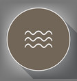 waves sign white icon on vector image vector image