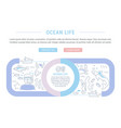 website banner and landing page ocean life vector image