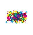 colored blots cmyk vector image