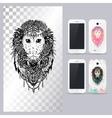 Black and white animal monkey head vector image
