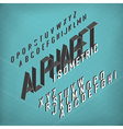 Isometric Alphabet Blueprint abstract background vector image