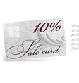 10 Sale Card Template vector image vector image