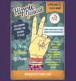 a hippies hand with bracelets vector image vector image