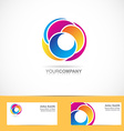 Abstract shapes corporate logo vector image vector image