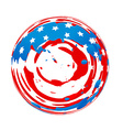 american flag design vector image vector image