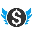 Angel Investment Flat Icon vector image vector image