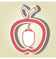 apple fruit with beet isolated icon design vector image vector image