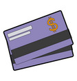 bank credit card debit money plastic vector image vector image