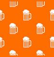 beer mug pattern seamless vector image vector image