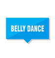 belly dance price tag vector image vector image