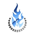 Blue colored gas flame vector image vector image