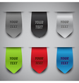 bookmark ribbons vector image vector image