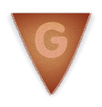 Bunting flag letter G vector image