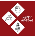 cartoon icon set Merry Christmas graphic vector image
