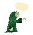 cartoon spooky halloween costume with speech vector image vector image
