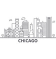 chicago architecture line skyline vector image vector image