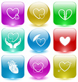closed heart careful heart unrequited love love in vector image