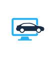 computer automotive logo icon design vector image