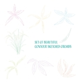 Contour sketched flowers vector image vector image