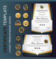 creative certificate template with luxury vector image