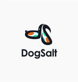 ds letter logo icon with abstract dog shape vector image vector image