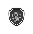 finger print security shield logo design element vector image