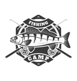 fishing camp emblem template on white background vector image vector image