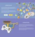 flat design gaming concepts web vector image vector image