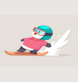 funny penguin are engaged in winter sports vector image vector image