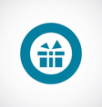 gift icon bold blue circle border vector image vector image