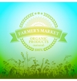 Green badge in retro style for farmers market vector image vector image