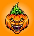 halloween joker pumpkins vector image vector image