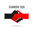 Handshake abstract sign design vector image vector image