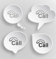 Hotline White flat buttons on gray background vector image vector image