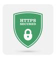 https secure website - ssl certificate shield vector image vector image