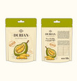 in design packing for durian vector image